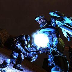 Battaglia tra uno Spartan-III ed un Cacciatore in <a href=