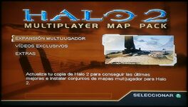Halo 2 Multiplayer Map Pack menú