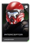 H5G REQ card Interceptor-Casque