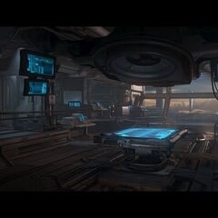 UNSC <i>Infinity</i> command post.