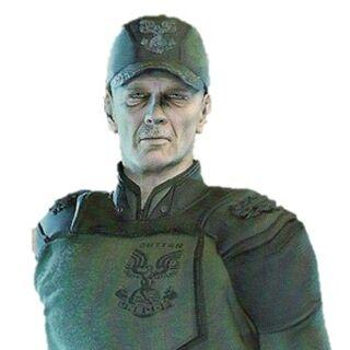 Il <b>Capitano Cutter</b> nella sua uniforme