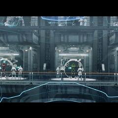 Die Spartaner an Bord der Infinity. Hier ist ihr Hauptquartier.