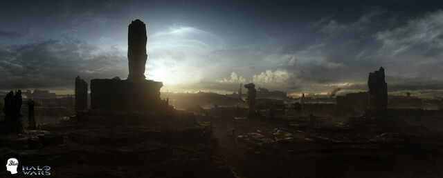 Archivo:Halo Wars shield world Matte by JJasso-1-.jpg