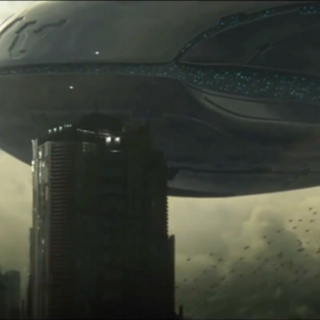 Una nave Covenant invade una città umana