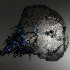 光环3中博爱之城的概念艺术图。
