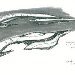 博爱之城作为旗舰的早期概念艺术图。