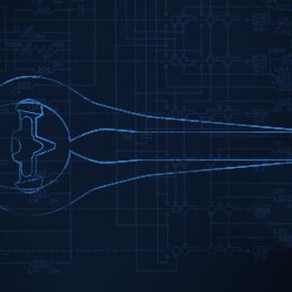 Eine Blaupause des Typ-1 Partikelschwert