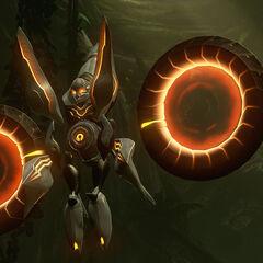 Un Osservatore Prometeico nella giungla su Requiem in <i>Halo 4</i>.