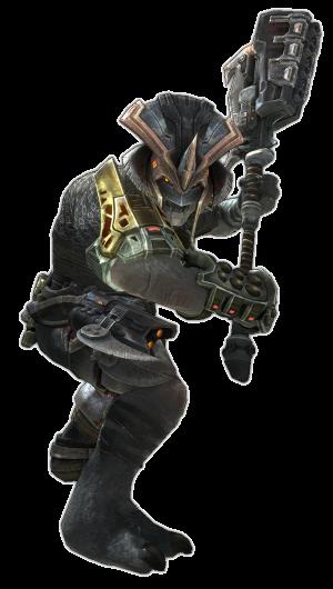 Brute Comandante Regolare con martello Halo Reach