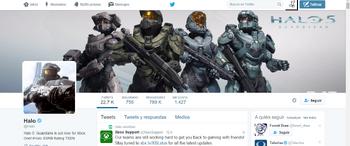 Portada del Twitter de Halo