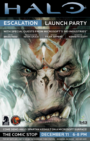 File:Halo Escalation Issue -1 comic book launch poster.png