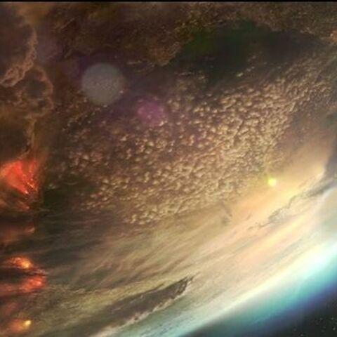 Aszod aus dem Weltall