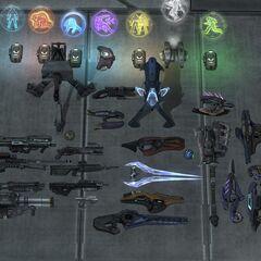 Tutte le armi presenti in Halo:Reach create con la fucina