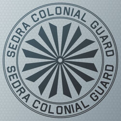 HNF-Sedran Colonial Guard emblem