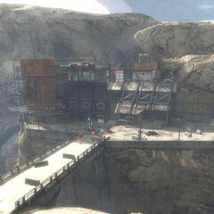 Eine kleinere Bergbauanlage