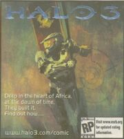 Halo3.com comic ad with AR symbol