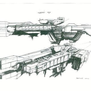 Concept art di Eddie Smith, che ha sviluppato diverse immagini per <a href=