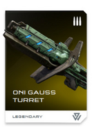 Torreta Gauss REQ card