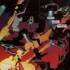 A flight of Hornets deploy ODSTs into the occupied city of Cleveland on Earth in 2552.