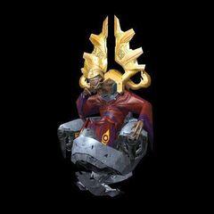Ein hoher Prophet in seinem traditionellen Thron.