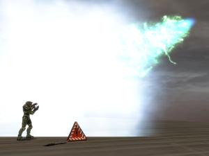 Arma scarab disparando H2