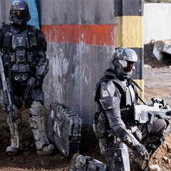 2 Darsteller aus <i>Halo Landfall</i>