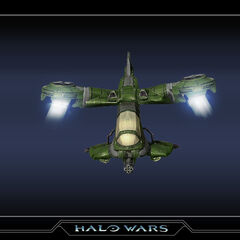 Hornet with a chin-mounted gun, as seen in <i>Halo Wars</i>.