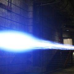 Il proiettile Gauss che ravvicinato è di colore blu