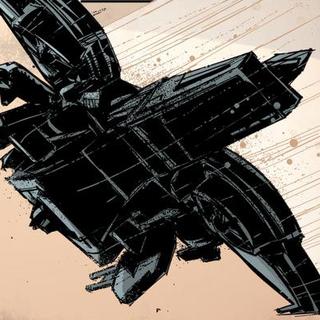 Rückansicht eines Skyhawk-Jet.