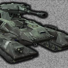 Un'altra visuale della versione finale dell'M808 Scorpion in <i><a href=