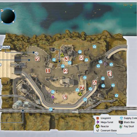 Karte der Mission