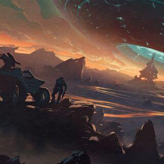 Konzeptentwurf für die verworfene animierte Serie, als welches Spartan Ops zuerst veröffentlicht werden sollte