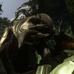 L'arbiter e John all'inizio di Halo 3