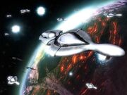 Covenant ships over planet reach-1-