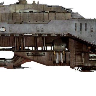 Another concept image, showing a profile view of the UNSC <i>Spirit of Fire</i>.