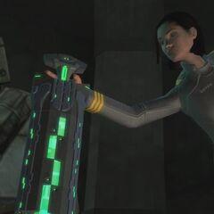 Miranda Keyes recupera l'indice dalla Biblioteca di Delta Halo