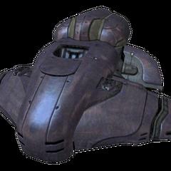 Un Wraith inattivo in Halo 2