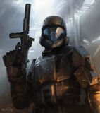 The Rookie Concept Art halo3 odst