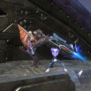 Grunt che utilizza un cannone al plasma in <a href=