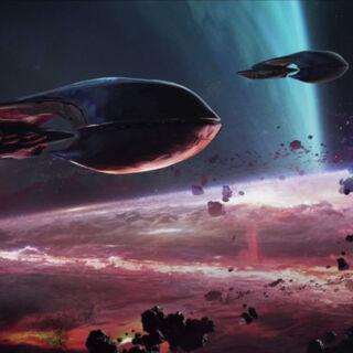 Die Allianzflotte die Meridian während des <a class=