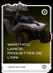 H5G REQ Card Warthog lance-roquettes de l'ONI