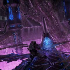 反应堆室的概念艺术图。