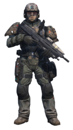 Halo Reach - UNSC Army Infantryman (Standing)