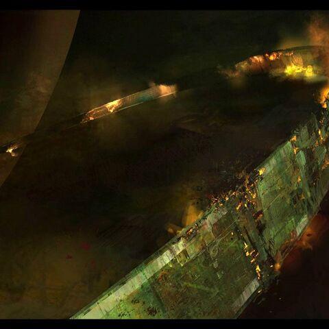 Ein Teil des zerstörten Halo