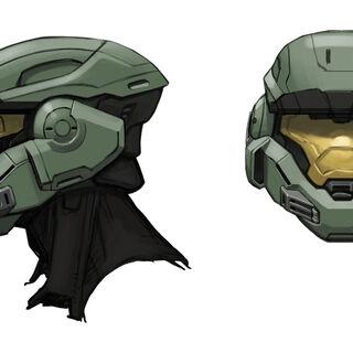 Konzeptzeichnung des Helmes