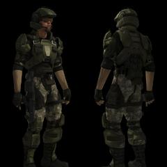 Vorder- und Rückansicht eines Marines.