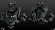 H4 Enforcer Helmet and torso 3d model