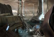 H4 Wreckage Concept Art
