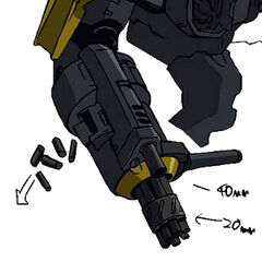 Eine Konzeptzeichnung der Waffe