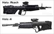 Comparacion de la DMR de Halo Reach con la de Halo 4